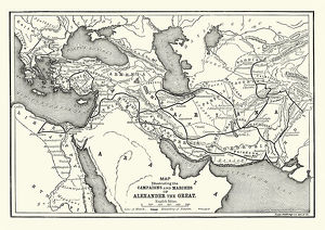 Ancient History - Map of Alexander the Great Campaigns