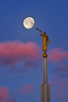 Angel Moroni Blowing a Bubble