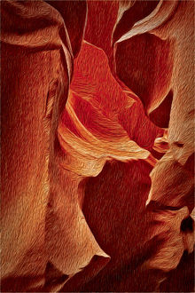 Antelope Canyon Oil Painting