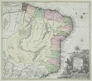 Antique map of Brazil
