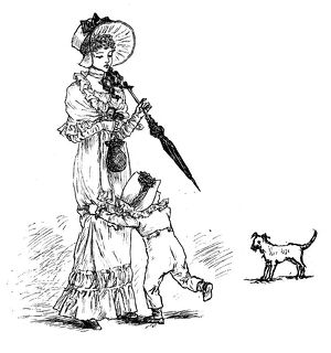Antique children spelling book illustrations: Dog