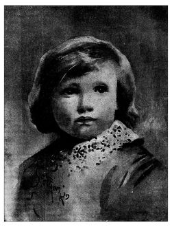 Antique children's book comic illustration: child portrait