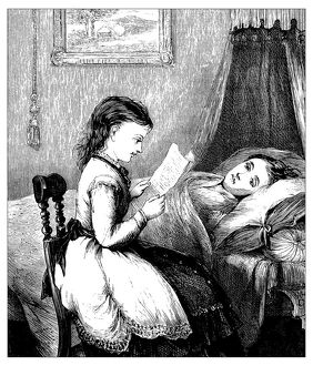 Antique illustration of domestic scene