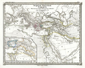 Antique Map of the Assyrian Empire