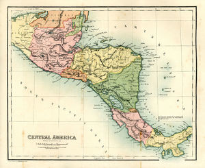 Antique map - Central America