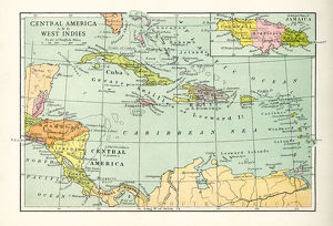 Antique Map of Central America and West Indes