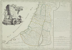 Antique map of Israel