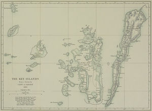 Antique map of the Key Islands