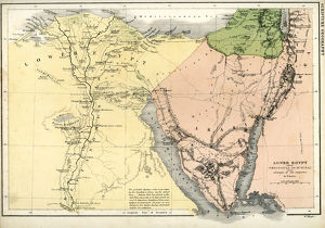 Antique map of Lower Egypt