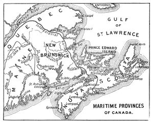 Antique Map of Maritime Provinces of Canada - 19th Century