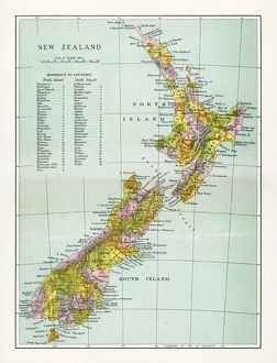 Antique Map of New Zealand