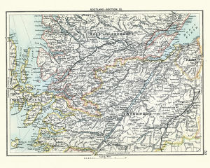 Antique map, Scotland, Inverness, Ross and Cromarty 19th Century