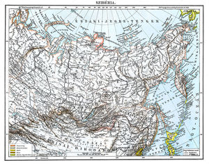 Antique map of Siberia