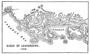 Antique Map of the Siege of Louisbourg - 18th Century