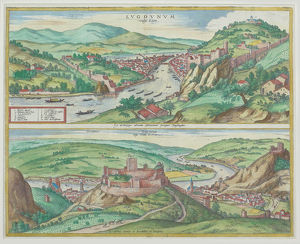 Maps of Lyons , France and Vienna , Austria