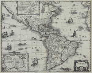 Nautical map of new world