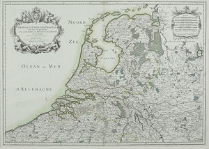 Map of Netherlands and Holland