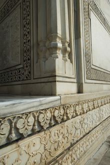 Architectural detail of the Taj Mahal, Agra, Uttar Pradesh, India