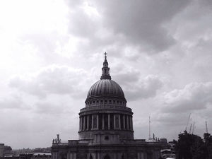 St Paul Cathedral Against Cloudy Sky