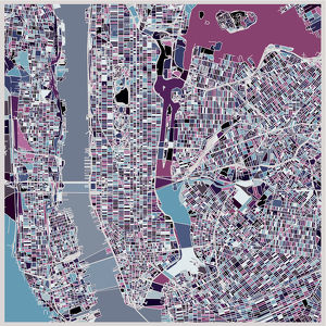 art illustration background,map of New York city