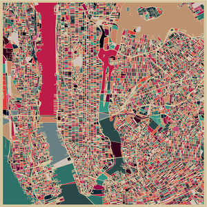 art map of New York city,Illustration background