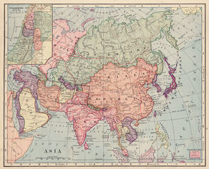 Asia map 1892