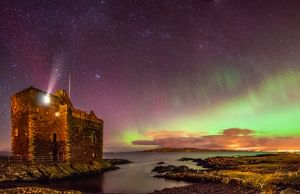 Aurora Borealis from Portencross