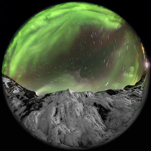 Aurora & rotating sky above Iceland