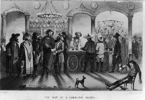 The Bar Of A Gambling Saloon