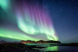 Beautiful Northern Lights aurora borealis borealisgreen Norway nature