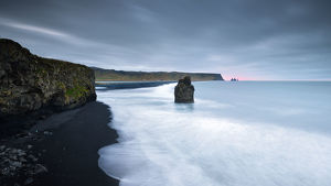 global landscape views/fred concha photography/black sand beach vik iceland