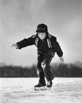 Boy ice-skating