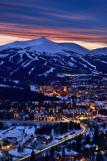 Breckenridge Ski Resort Dusk