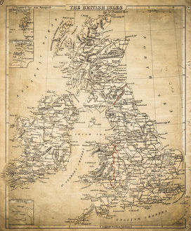 British Isles map of 1869