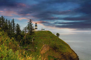 Cape Disappointment Lighthouse after Sunset