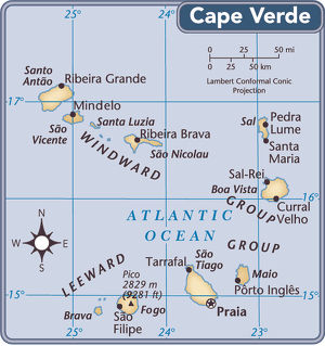 Cape Verde country map