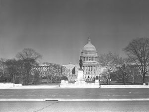 Capitol Building, Washington DC, USA, (B&W)