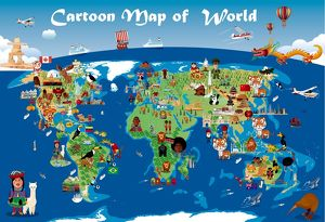 <b>Cartoon Maps</b><br>Selection of 88 items