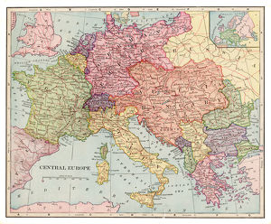 Central Europe map 1892