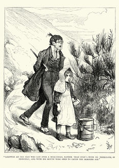 Charles Dickens Likewise an man who ran over a milk-child
