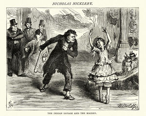 Charles Dickens, Nicholas Nickleby, Indian savage and the maiden
