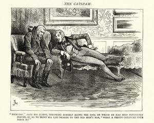 Charles Dickens, Nicholas Nickleby, throwing himself along the sofa