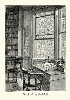 Charles Dickens study at Gads Hill Place