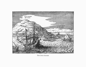 The Cocos Islands Dutch Navigation, Victorian Illustration