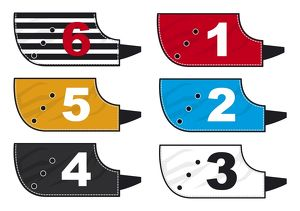 Colour coded jackets for greyhound race dogs