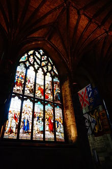 travel/unesco world heritage/colourful interior saint giles cathedral edinburgh