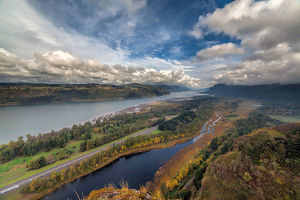 Columbia River Gorge in Autumn