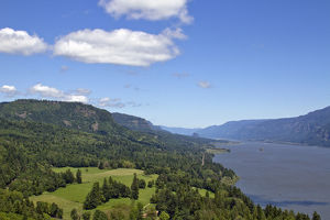 Columbia River Gorge From Cape Horn Lookout