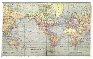 Commercial map of the world 1892