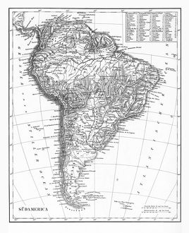 The Continent of South America, Circa 1850